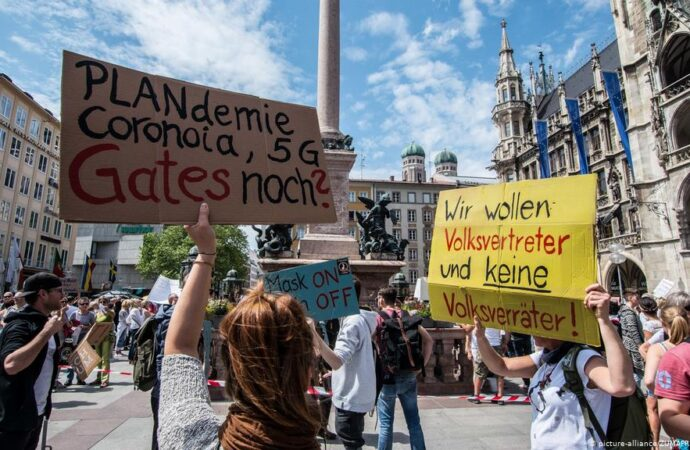 PROTESTAS EN ALEMANIA POR RESTRICCIONES DEL VIRUS