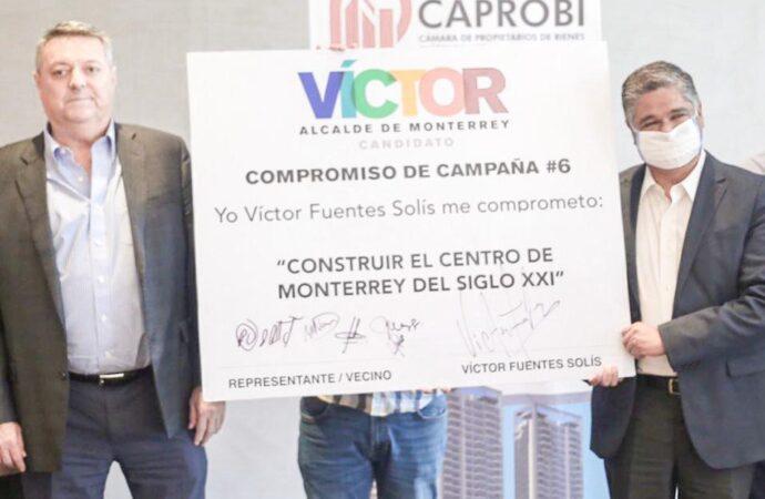 PLANEA VÍCTOR FUENTES CONVERTIR MONTERREY EN LA CIUDAD DE LOS RASCACIELOS