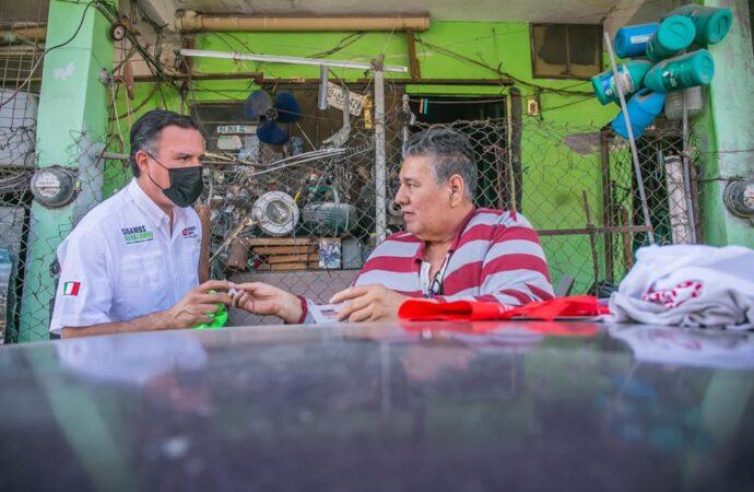 VA ANDRÉS CANTÚ POR RECURSOS PARA OBRA PLUVIAL EN PUEBLO NUEVO