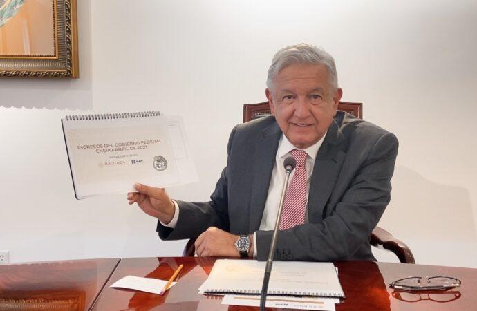 PRESIDENTE DESTACA RECAUDACIÓN ESTABLE; CONTRIBUYENTES AYUDAN AL DESARROLLO DEL PAÍS, AFIRMA