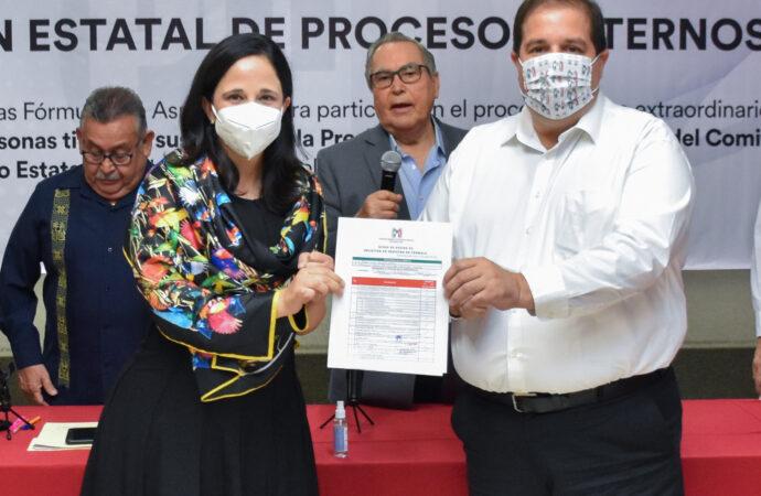 SE REGISTRAN JOSÉ LUIS GARZA OCHOA  Y MAYELA QUIROGA PARA DIRIGENCIA SUSTITUTA EN PRI ESTATAL