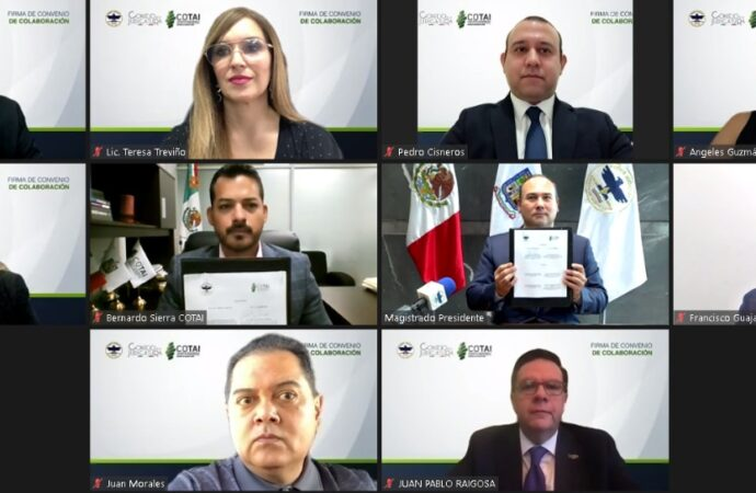 FIRMA COTAI CONVENIO DE COLABORACIÓN CON EL PODER JUDICIAL DEL ESTADO EN MATERIA DE TRANSPARENCIA Y RENDICIÓN DE CUENTAS